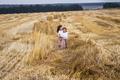 Little girl running across the sunny field - PhotoDune Item for Sale