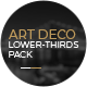 Art Deco Lower Thirds Pack - VideoHive Item for Sale