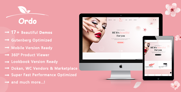 Ordo | Natural Cosmetic WooCommerce WordPress Theme
