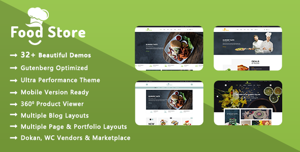 Food Store | Organic & Restaurant WooCommerce WordPress Theme