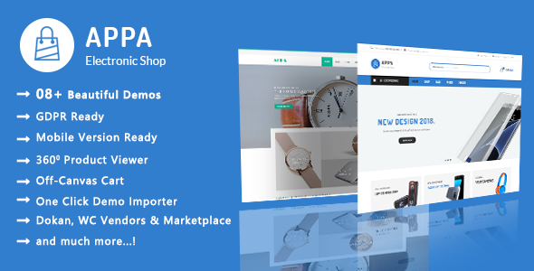 Appa | Electronics & Watches WooCommerce WordPress Theme