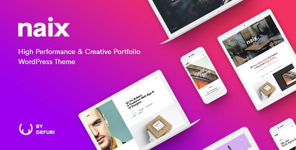 Naix - Creative & High Performance Portfolio WordPress Theme