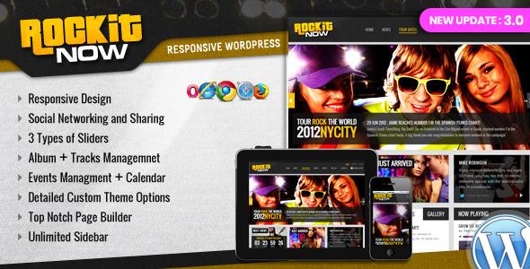 Rockit Now - Music Band WordPress Theme Download