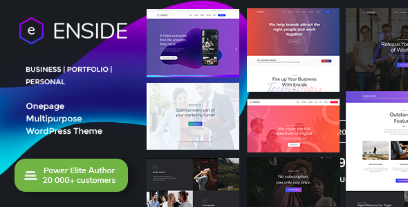 Enside - Multipurpose Onepage Landing Page WordPress Theme