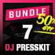 7 Press Kit Templates Bundle for Djs and Musicians - GraphicRiver Item for Sale