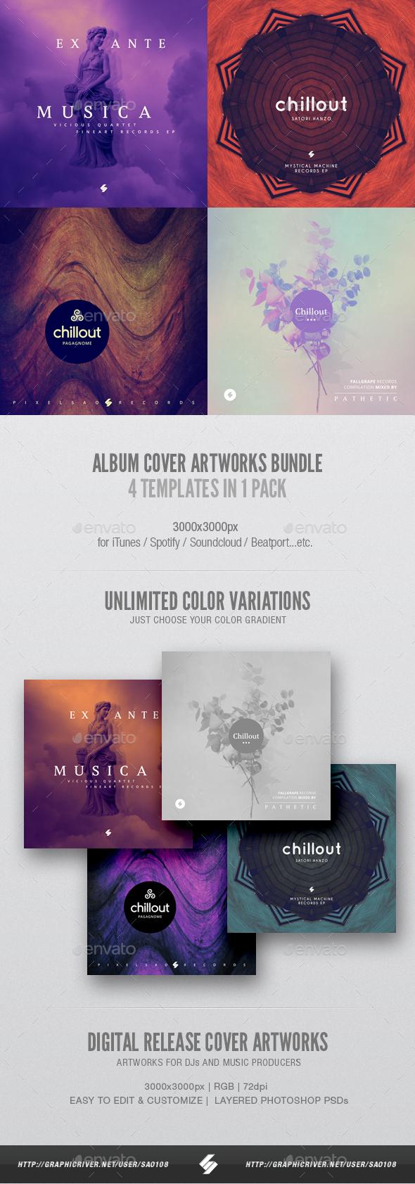 Music Album Cover Artwork Templates Bundle 23