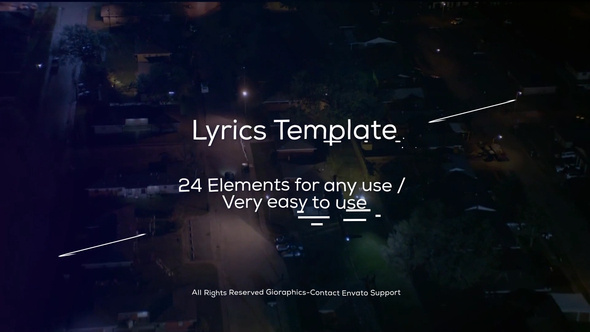 Lyrics Template and Elements by Gioraphics