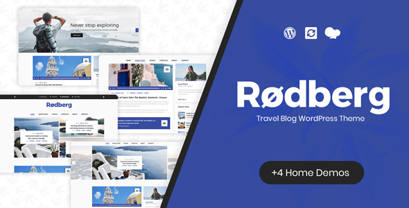 Rodberg - Travel Blog WordPress Theme