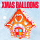 Foil Balloons - Xmas Party Collection - VideoHive Item for Sale