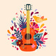Guitar Flat Hand Drawn Vector Illustration - GraphicRiver Item for Sale