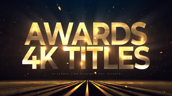 Awards 4K Titles | Lines