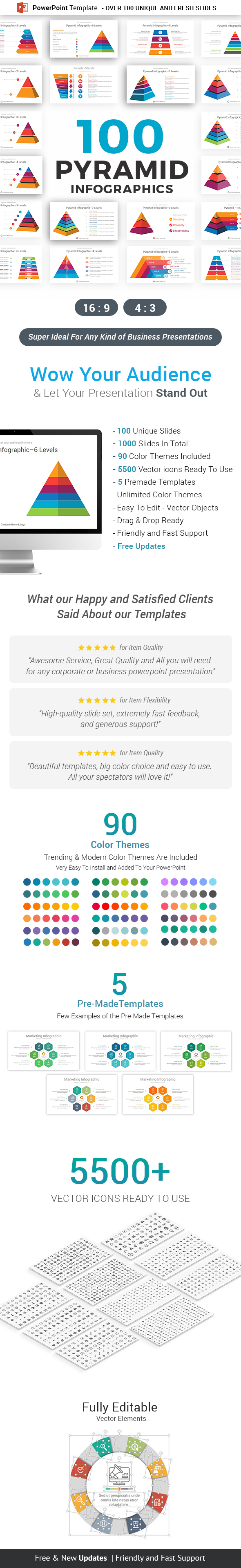 Pyramid Infographics PowerPoint Template diagrams