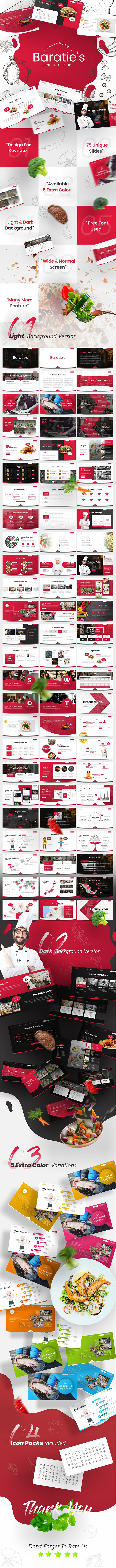 Baratie's Multipurpose Food & Beverage Business Keynote Template