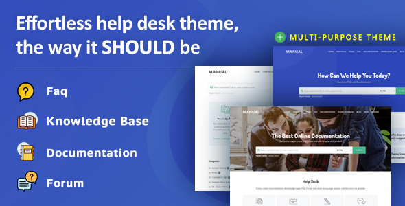 Manual - Multi-Purpose Online Documentation, Knowledge Base & Creative WordPress Theme