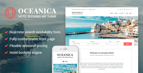 WordPress Hotel Theme - Oceanica