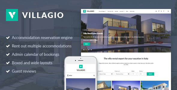 Vacation Rental WordPress Theme - Villagio