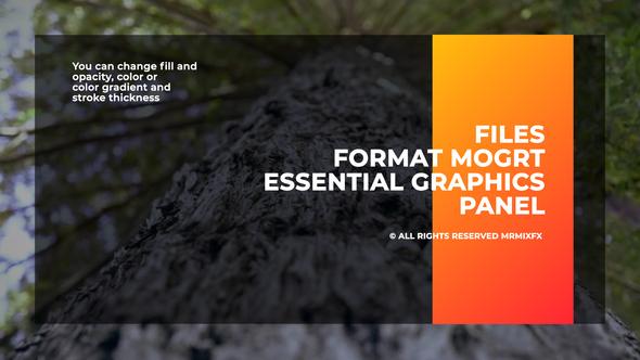 Big Titles I Essential Graphics