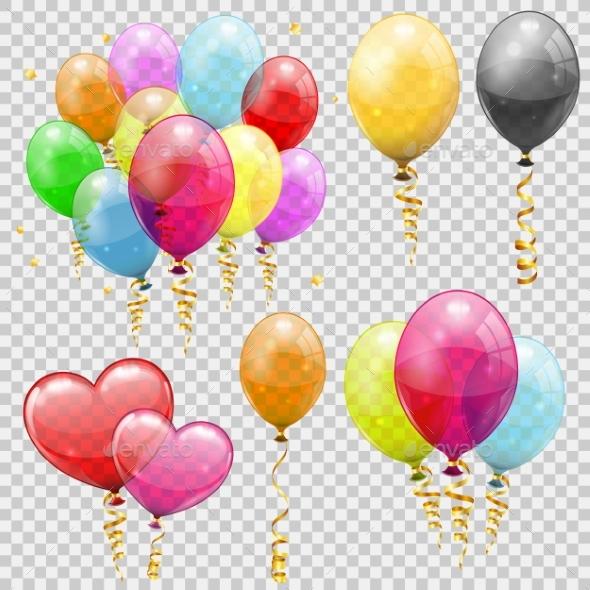 Set Helium Balloons