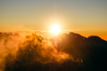 Sun rising over the beautiful mountains and clouds in High Tatras, Slovakia - PhotoDune Item for Sale