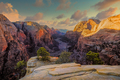 Scenic view of mountain valley in Zion national park, USA - PhotoDune Item for Sale