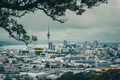 Auckland, New Zealand, 28 December 2016: Auckland skyline in during cludy day, New Zealand - PhotoDune Item for Sale