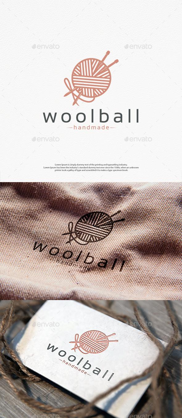 Wool Ball Logo Template