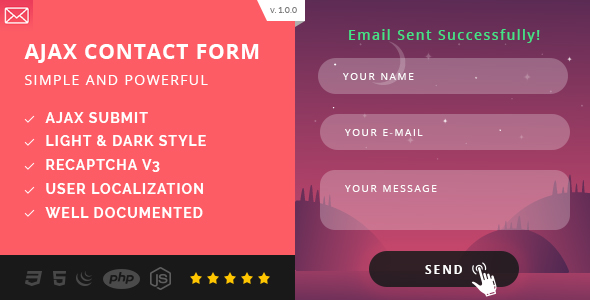 Simple AJAX Contact Form (Mobile First)