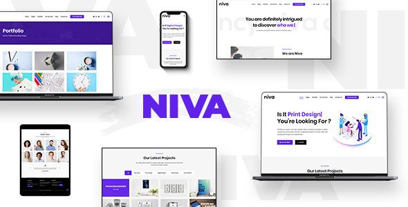 Niva -  Creative Agency WordPress Theme