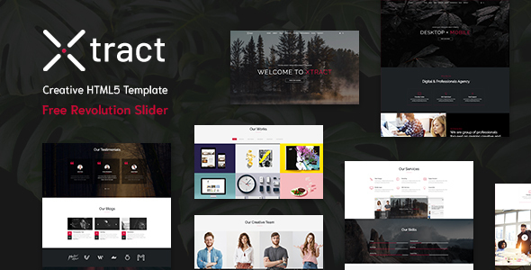 Xtract - Creative One Page Template
