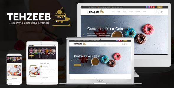 Tehzeeb - Responsive Cake Shop Template