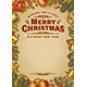 Vintage Merry Christmas Greeting Card With Copy Space - GraphicRiver Item for Sale