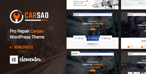 Carsao - Responsive Car Service WordPress Theme