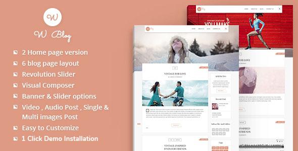 W Blog WordPress Theme