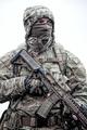 Portrait of modern army infantryman on march - PhotoDune Item for Sale