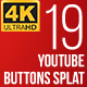 Youtube Subscribe Button Splat 4K (Video) - VideoHive Item for Sale