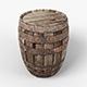 3D Old Barrel low-poly - 3DOcean Item for Sale