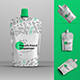 4 Mockup DoyPaka with a Dispenser in the Middle - GraphicRiver Item for Sale