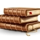 Stack Pile of Paper Books with Old Leather Covers and Bookmark - GraphicRiver Item for Sale