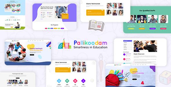 Pallikoodam - Kids School WordPress Theme