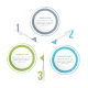 Circle Infographics with Three Elements - GraphicRiver Item for Sale