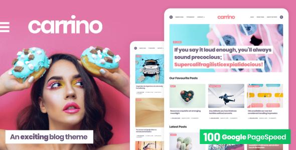 Carrino -  An Exciting Gutenberg Blog Theme