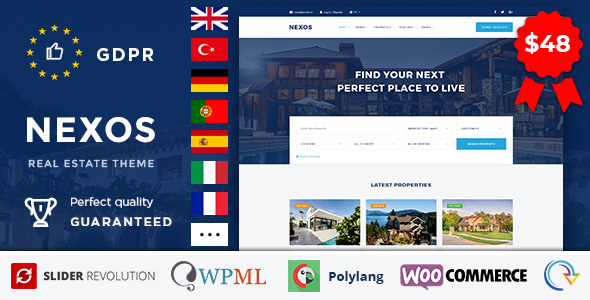 Nexos - Real Estate WordPress Theme