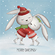 Cute Bunnies Ride in the Winter Skating - GraphicRiver Item for Sale