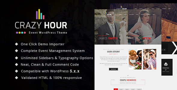 Crazy Hour - Event Management WordPress Theme