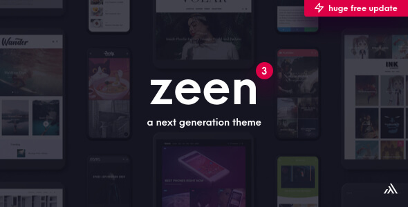 Zeen | Next Generation Magazine WordPress Theme
