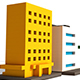 Voxel Buildings - 3DOcean Item for Sale