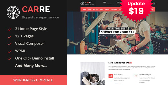 Car RE - Auto Mechanic & Car Repair WordPress Theme