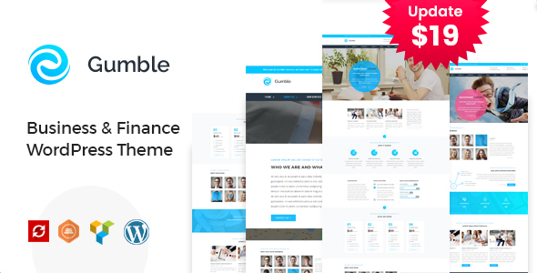 Gumble - Business and Finance WordPress Theme