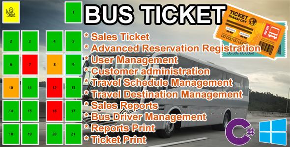 Bus Ticket - MySQL C# Advanced Seat Reservation Management Download