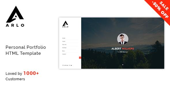 Arlo - Personal / Portfolio / Resume Template